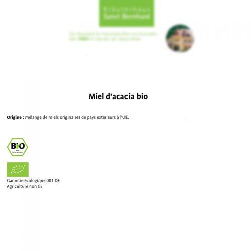 certificat BIO miel Acacia DE