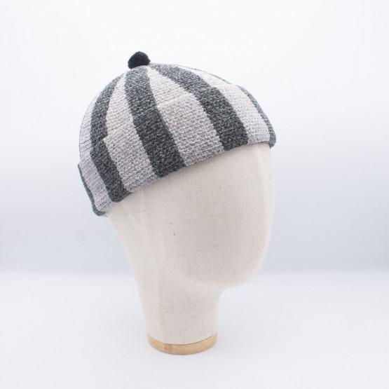 Bonnet velours gris