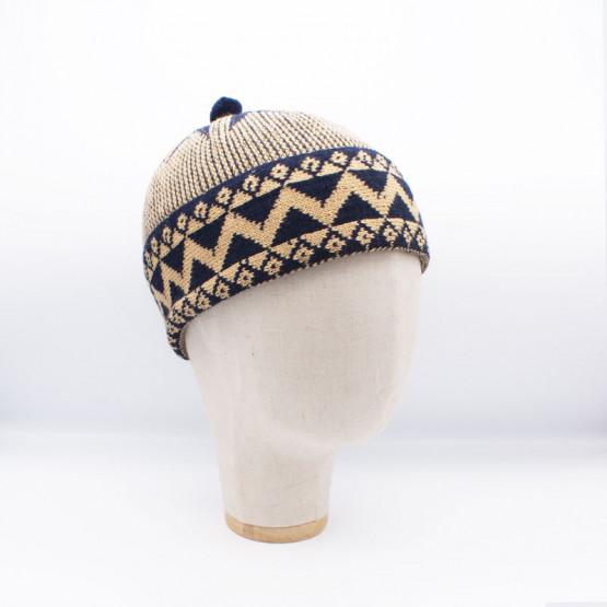 bonnet chachia new beige et bleu